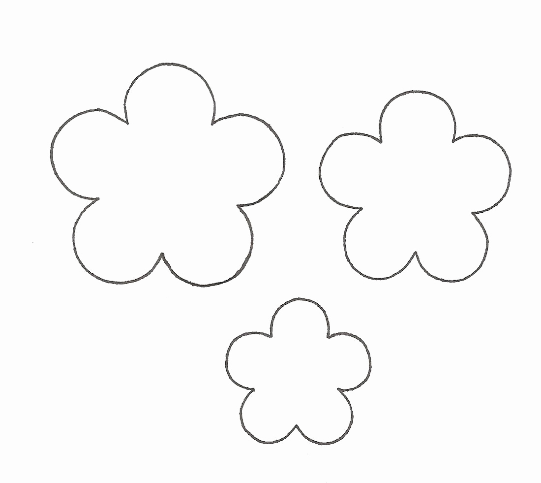 Printable Flower Template Cut Out Awesome Flower Template for Children S Activities