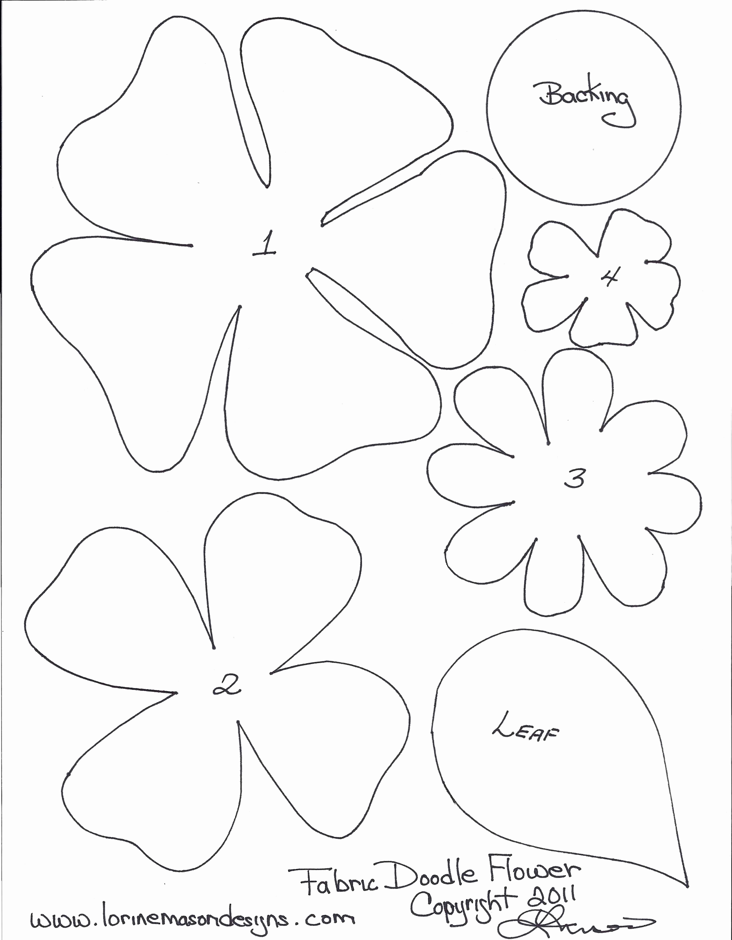 Printable Flower Template Cut Out Beautiful Free Printable Paper Flower Templates