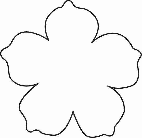 Printable Flower Template Cut Out Beautiful Image Result for Flower Template with Cut Out Lines for