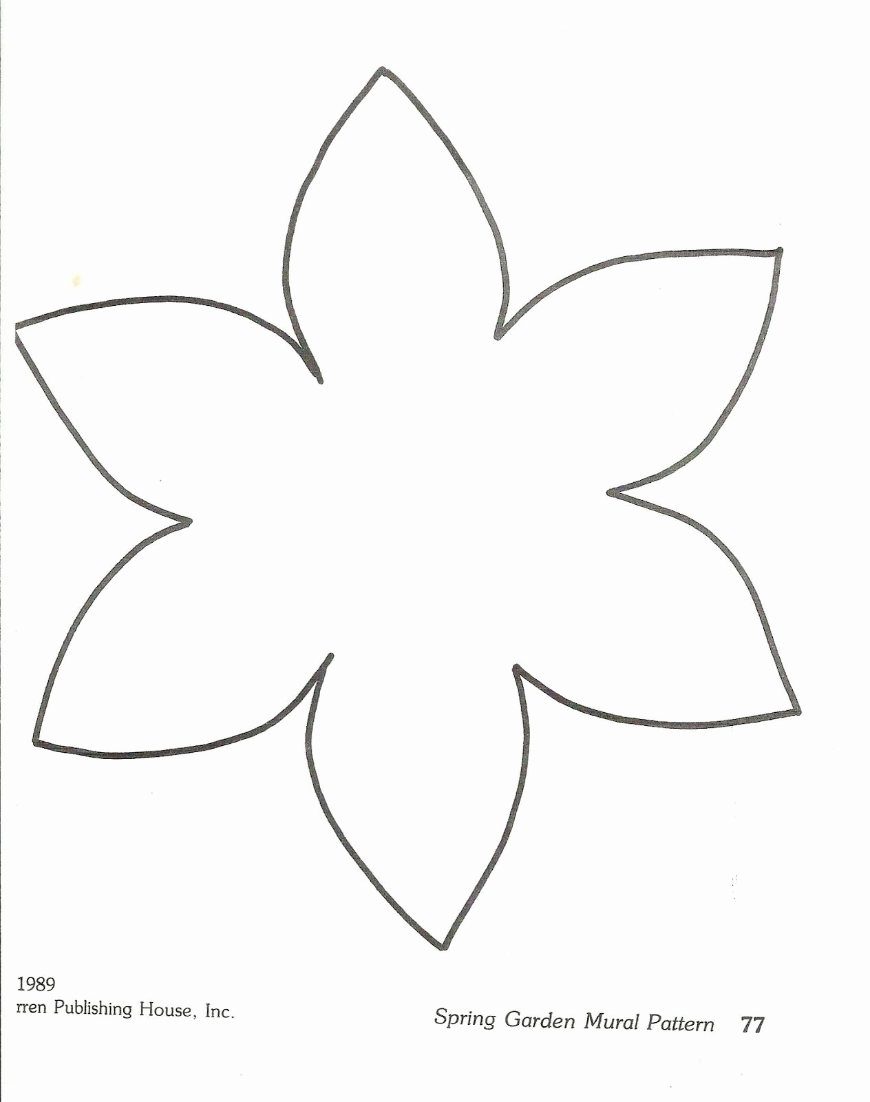 Printable Flower Template Cut Out Elegant Flower Template Preschool Squishideasforpreschool