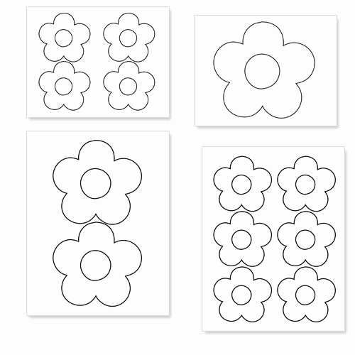 Printable Flower Template Cut Out Fresh Printable Flower Shapes to Cut Out From Printabletreats