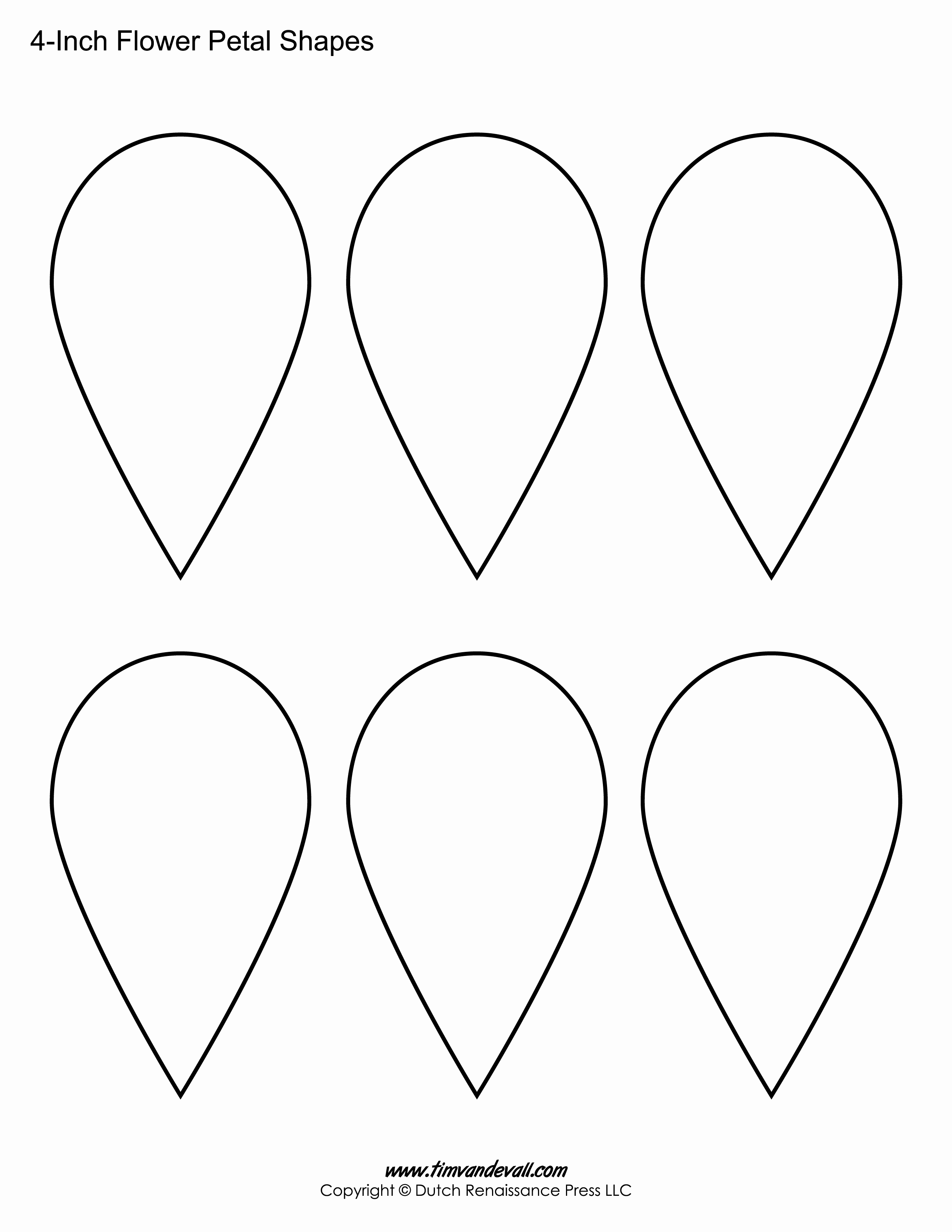 Printable Flower Template Cut Out Inspirational Flower Petal Templates – Tim S Printables