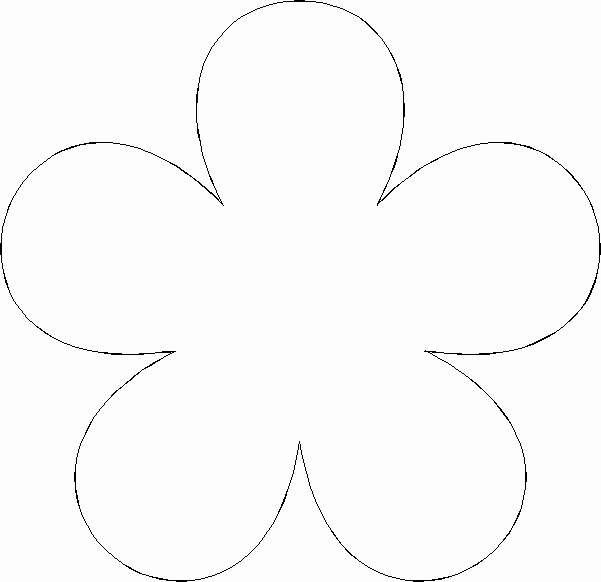 Printable Flower Template Cut Out Inspirational Paper Flower Templates