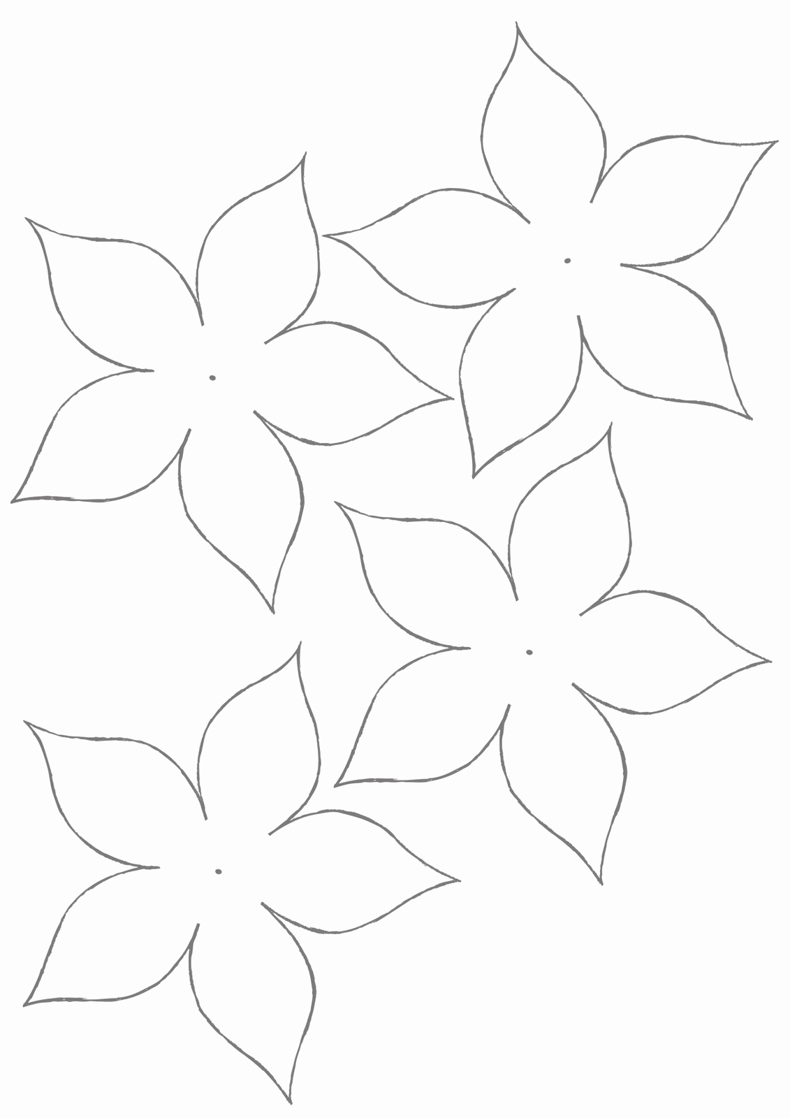 Printable Flower Template Cut Out Lovely Flower Template for Children S Activities