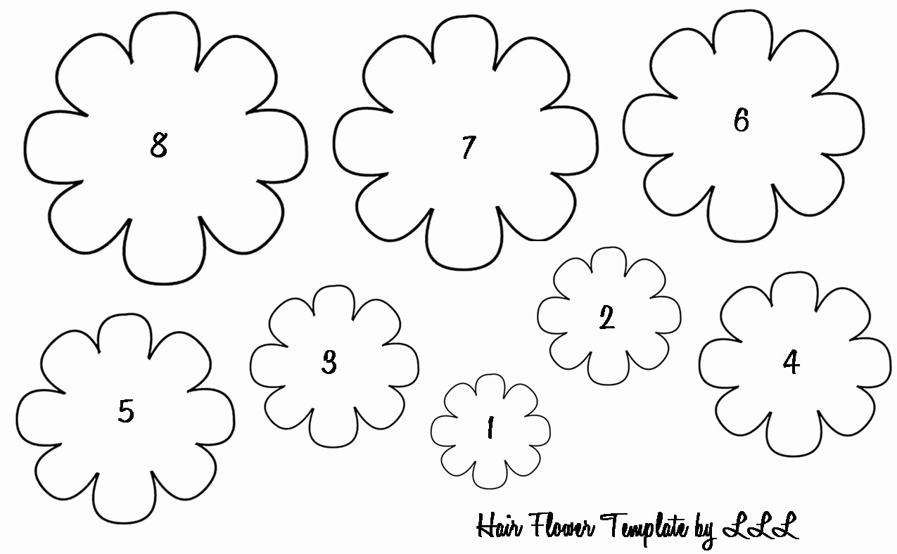 Printable Flower Template Cut Out Lovely Printable Flower Petals Cut Out Template