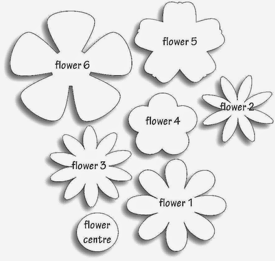 Printable Flower Template Cut Out Luxury Paper Flower Templates