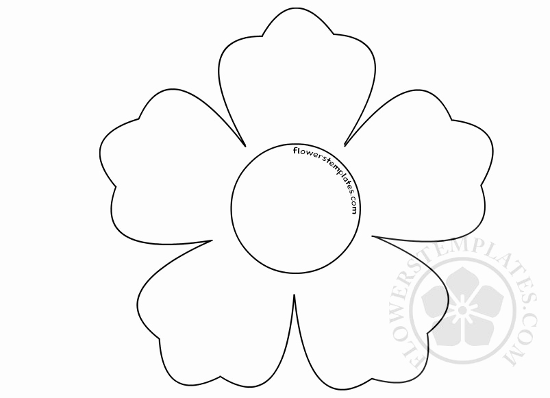 Printable Flower Template Cut Out New Printable Flower Shape Cut Out