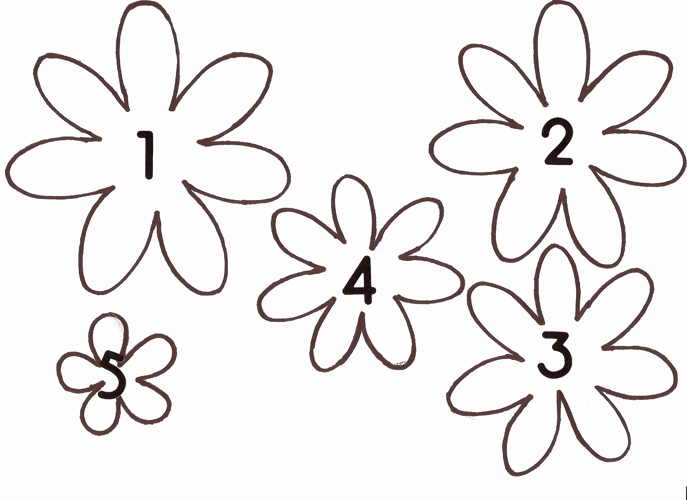 Printable Flower Template Cut Out Unique Flower Templates