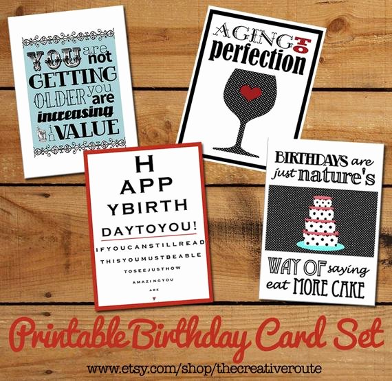 Printable Funny Birthday Cards Beautiful Printable Birthday Cards Set Of Funny Birthday Quotes Diy