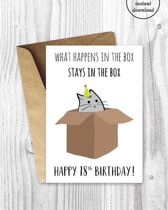 Printable Funny Birthday Cards Elegant 18th Birthday Printable Cards Funny 18th Birthday Cards