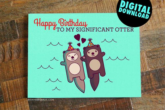 Printable Funny Birthday Cards Unique Funny Printable Birthday Card for Boyfriend Girlfriend