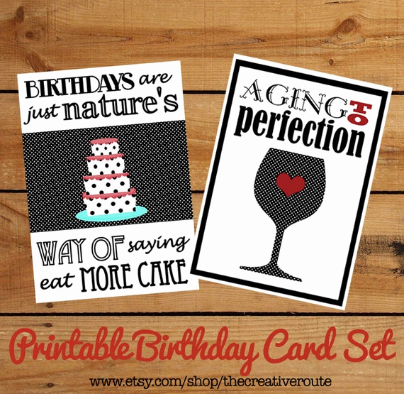 Printable Funny Birthday Cards Unique Printable Birthday Cards Funny Birthday Quotes On A Set Of