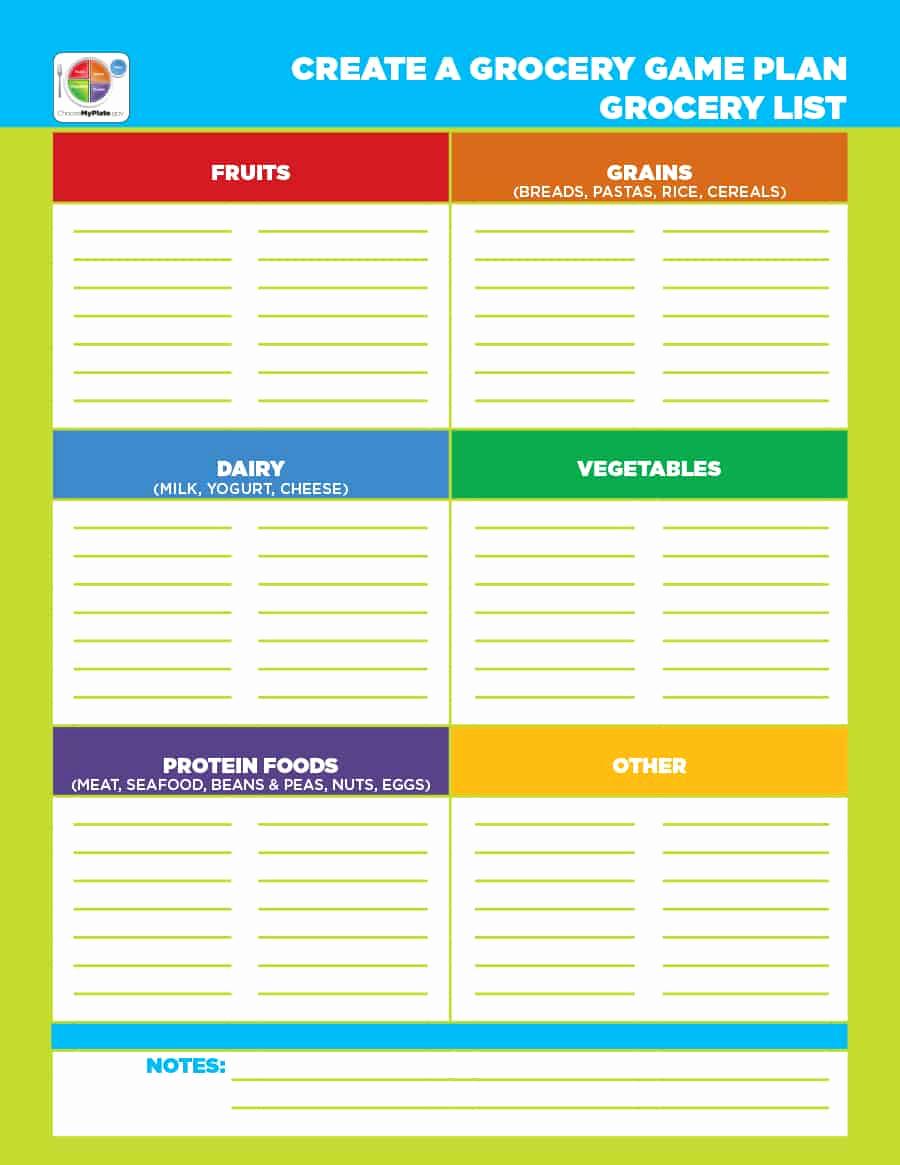 Printable Grocery List Template New 40 Printable Grocery List Templates Shopping List