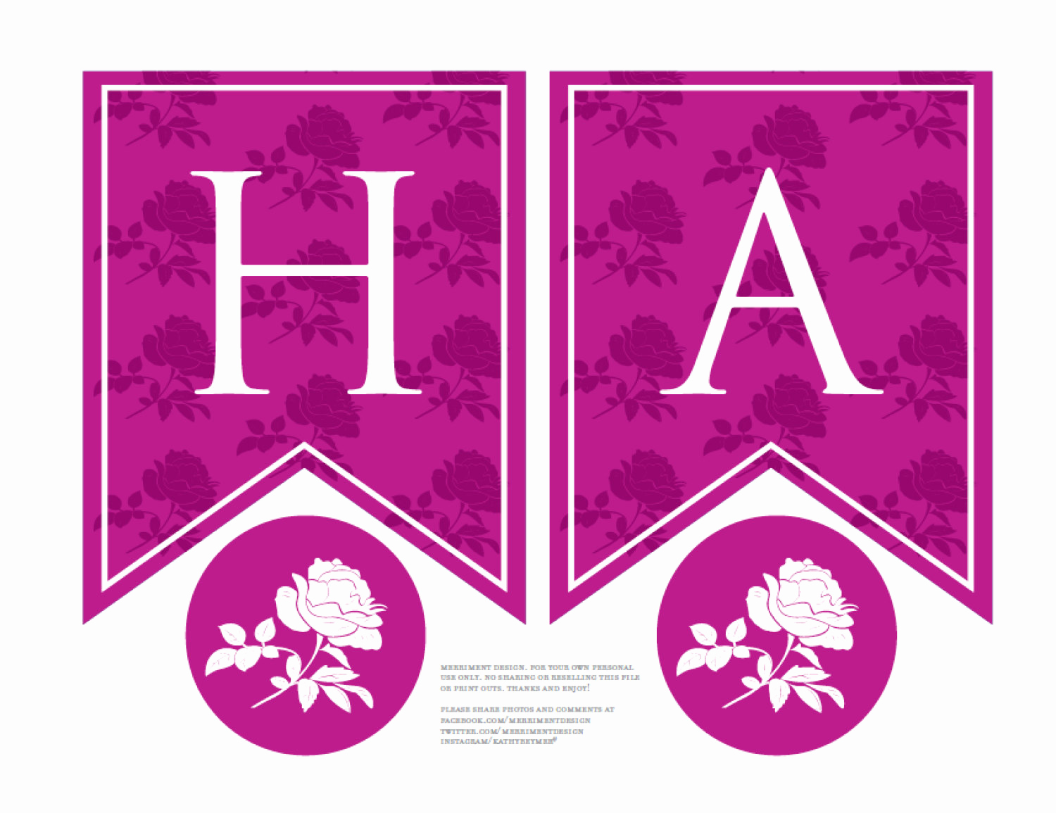 Printable Happy Birthday Banners Best Of Personalized Rose Birthday Banner Printable In Magenta Pink