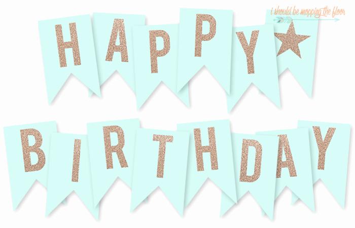 Printable Happy Birthday Banners Elegant Free Printable Happy Birthday Banner