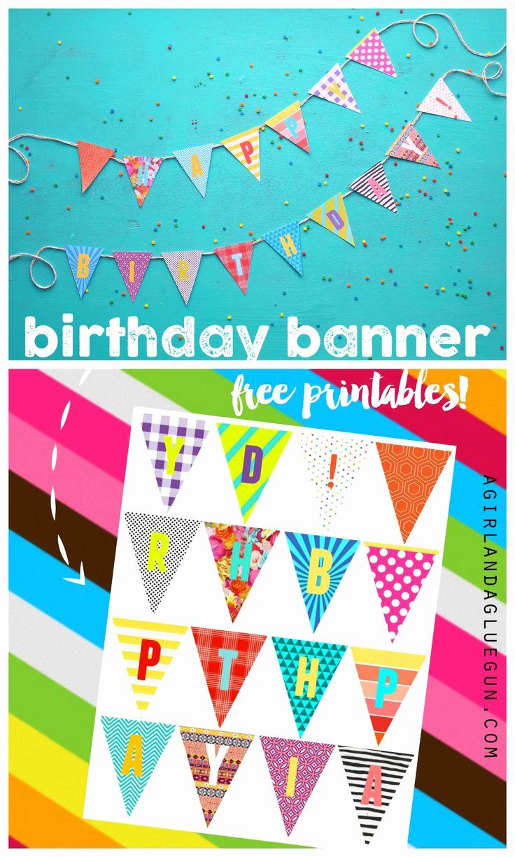 Printable Happy Birthday Banners Fresh Birthday Banner Printables