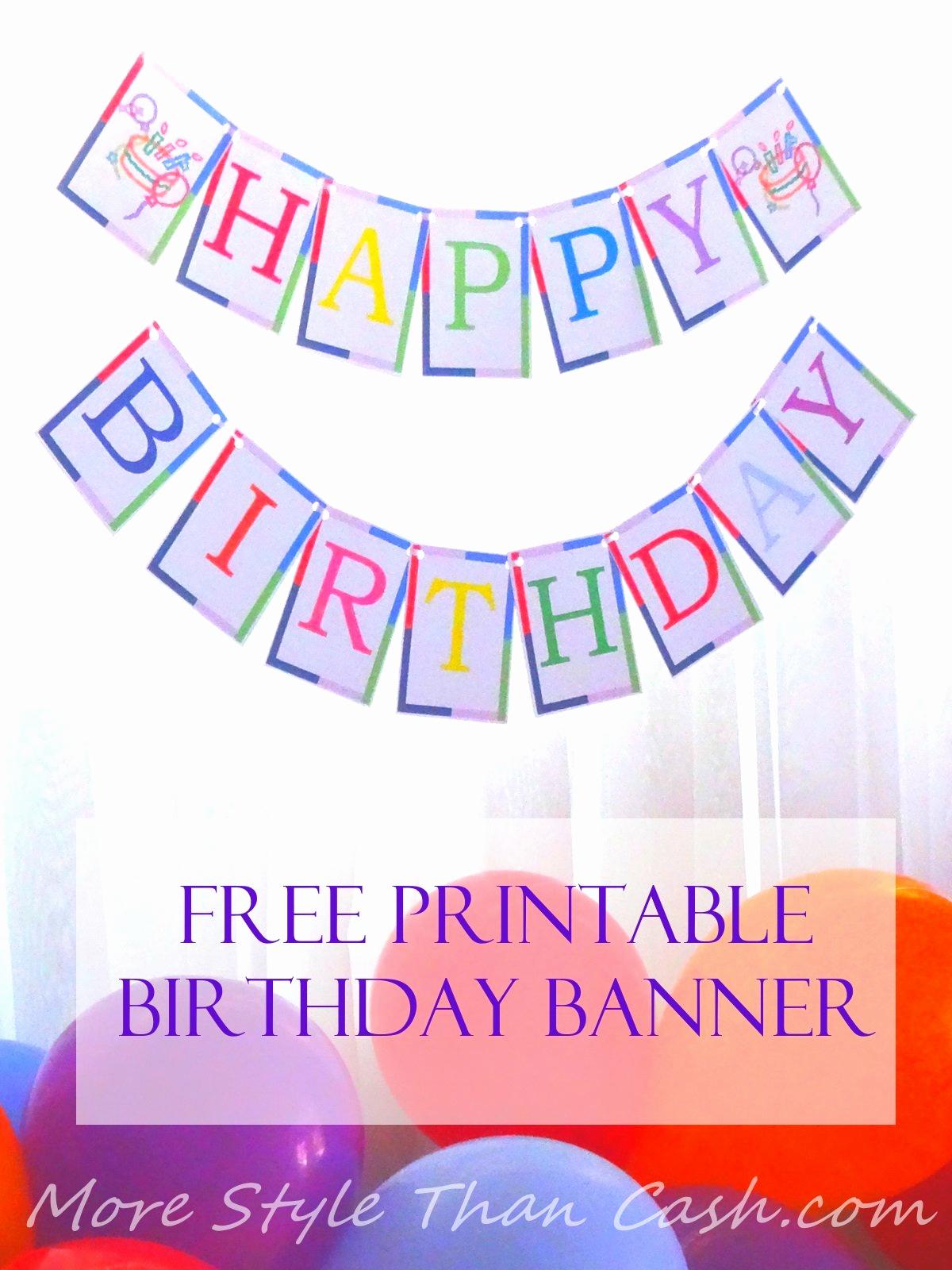 Printable Happy Birthday Banners Fresh Free Printable Birthday Banner