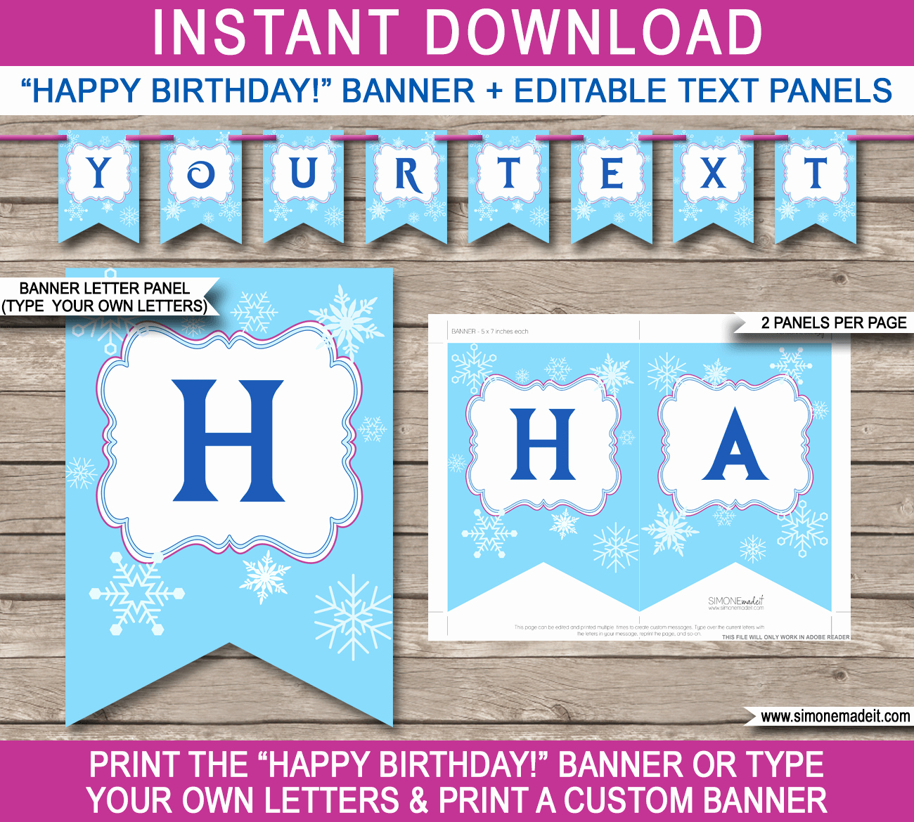 Printable Happy Birthday Banners Lovely Frozen Party Banner Template Birthday Banner