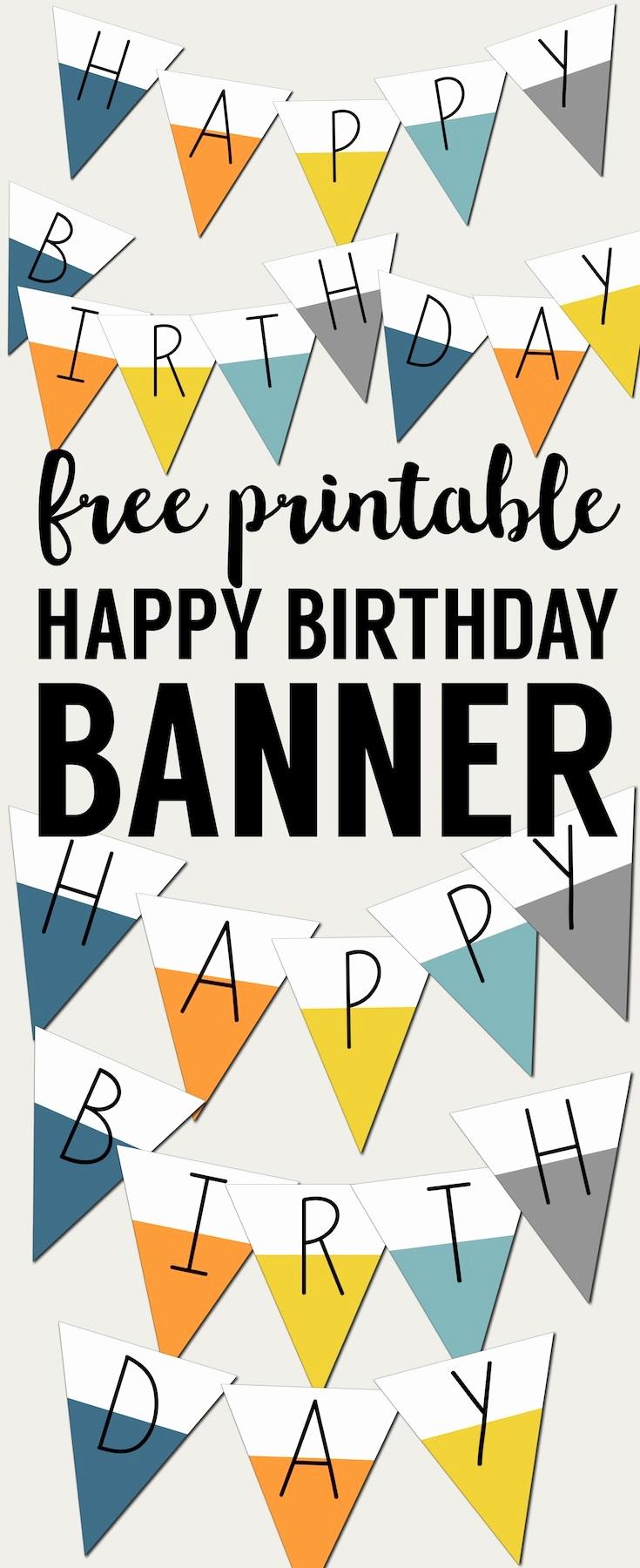 Printable Happy Birthday Banners New Free Printable Happy Birthday Banner Paper Trail Design