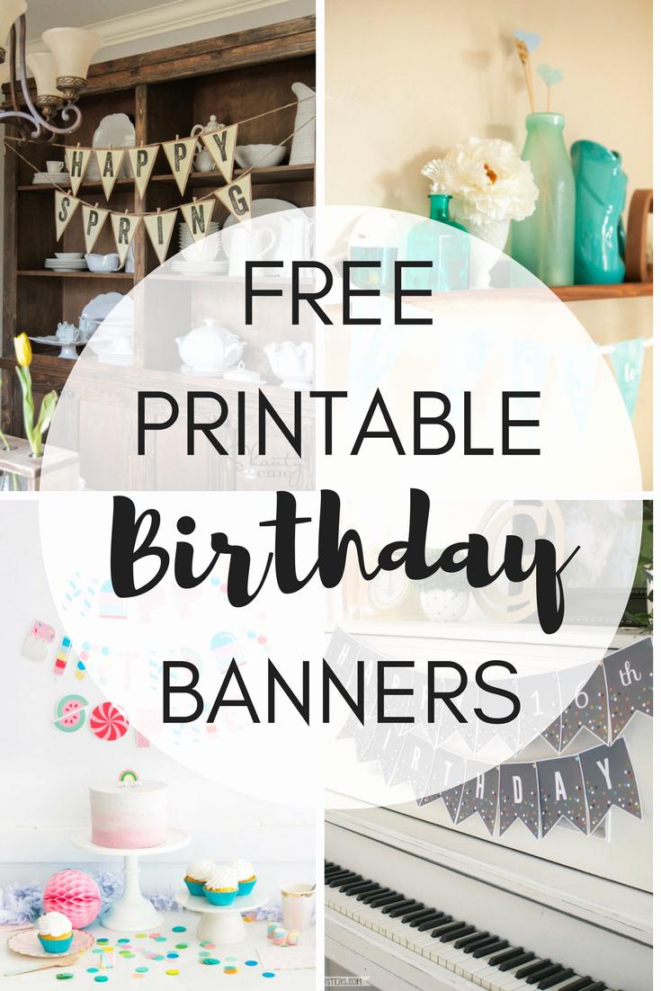 Printable Happy Birthday Banners Unique Free Printable Birthday Banners the Girl Creative