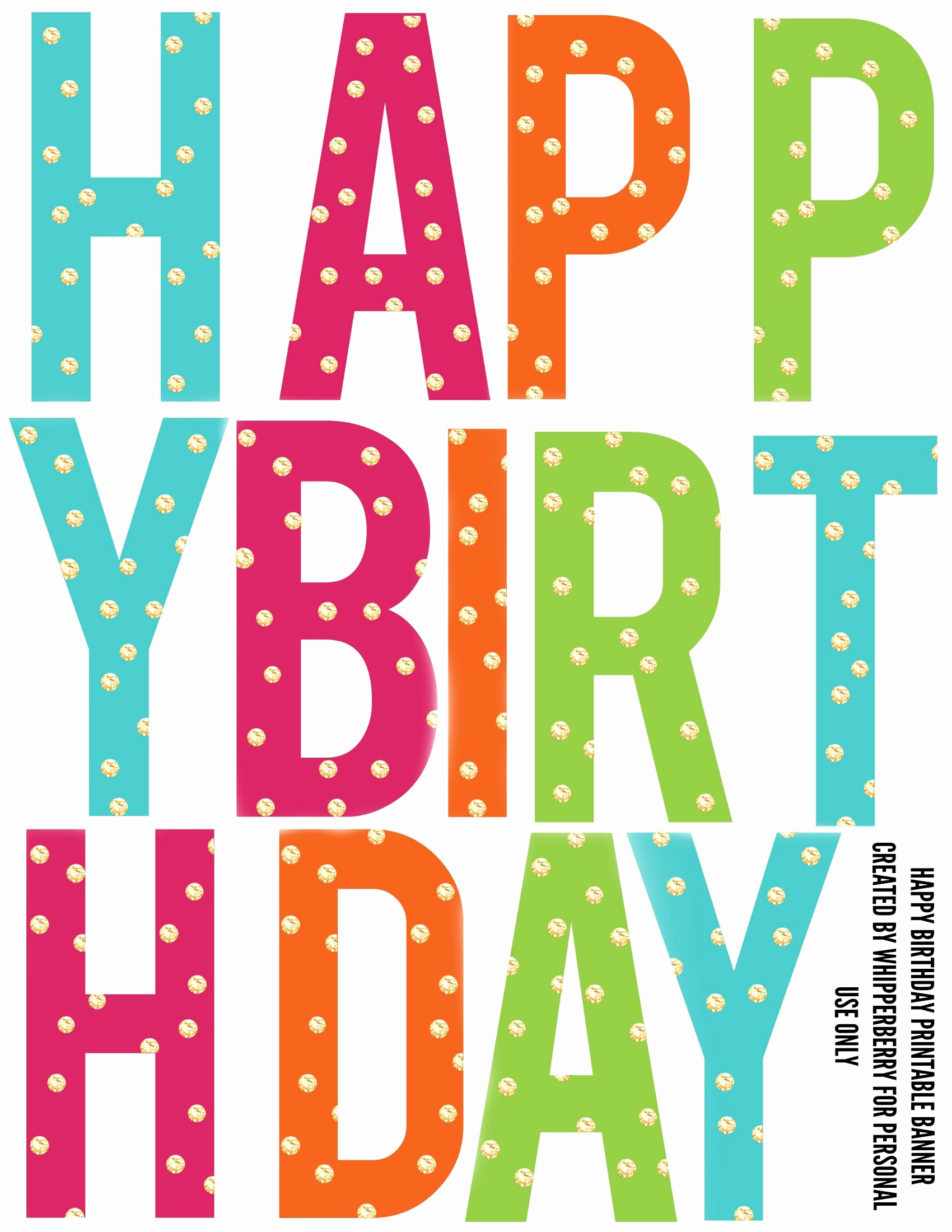 Printable Happy Birthday Banners Unique Printable Birthday Banner Letters