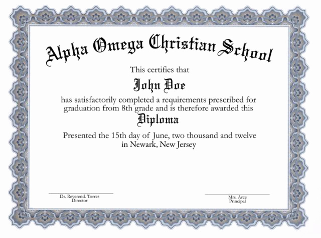 picture about Printable Diplomas known as printable superior higher education diplomas -