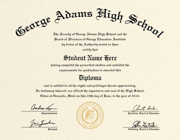 Printable High School Diploma Best Of High School Diploma Template