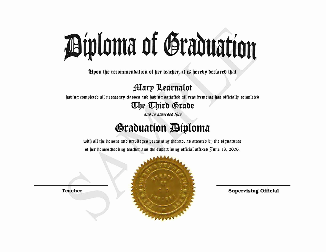 Printable High School Diploma Best Of Homeschooling Diplomas Quick Easy Template for Home