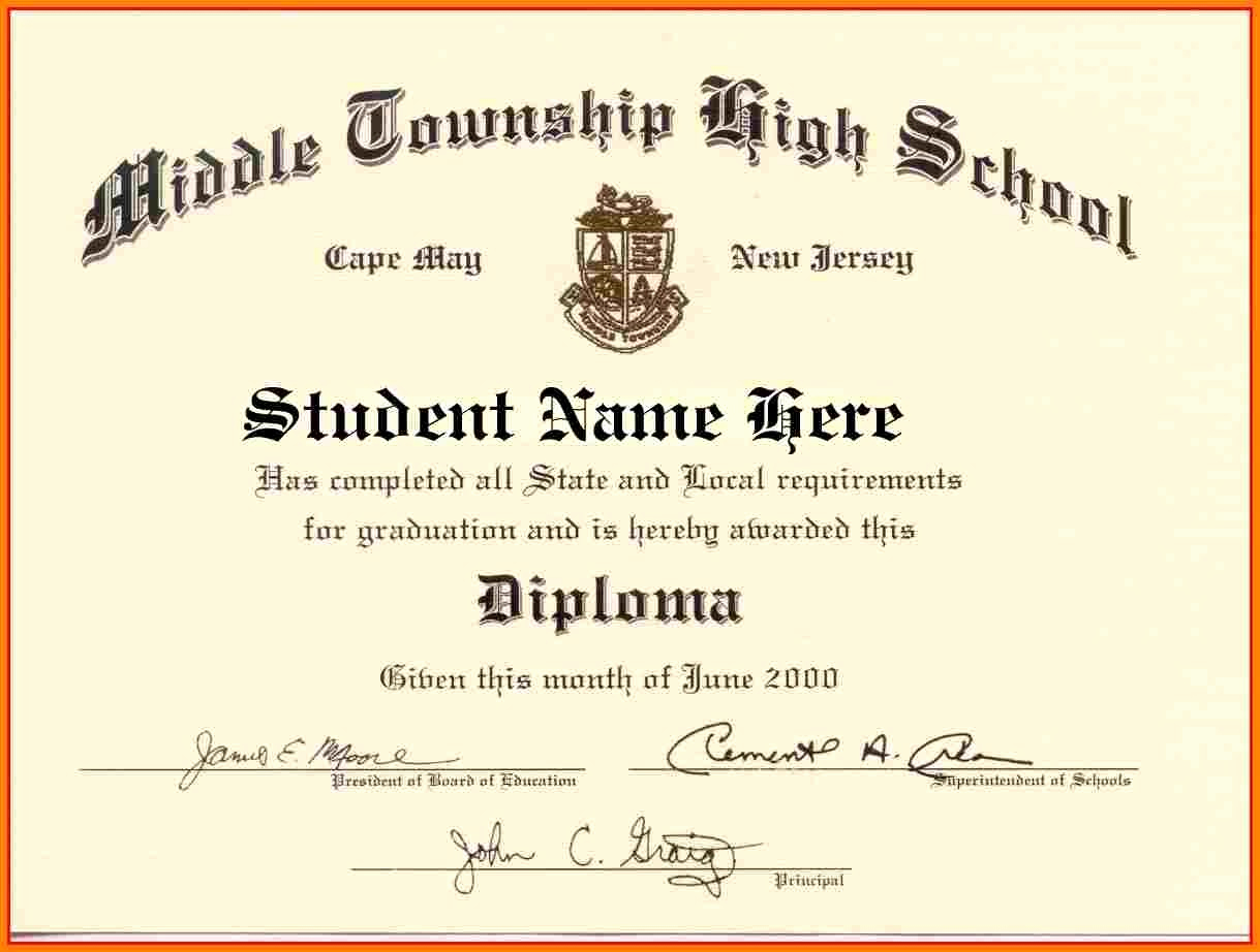 Printable High School Diploma Elegant High School Diploma Template Word Free Download