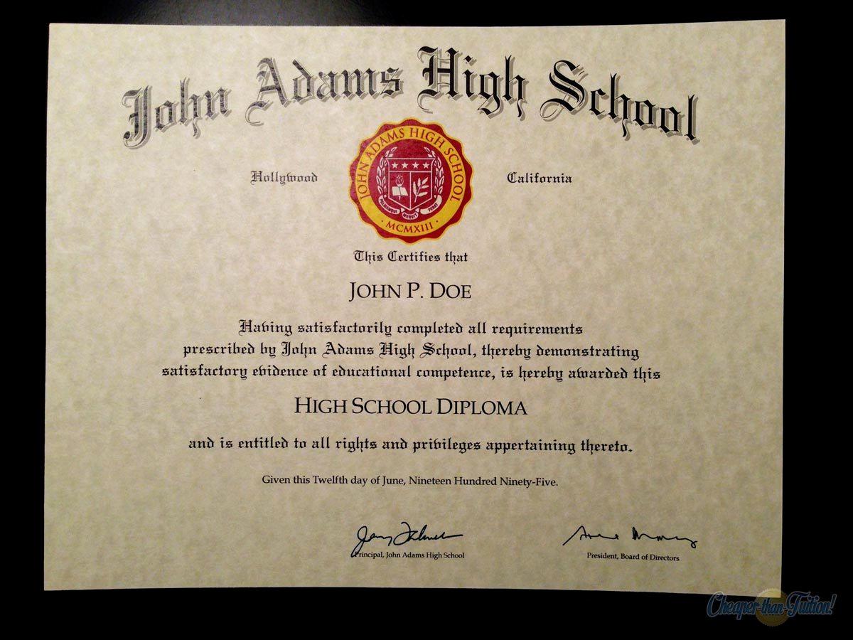 Printable High School Diploma Fresh 60 Free High School Diploma Template Printable