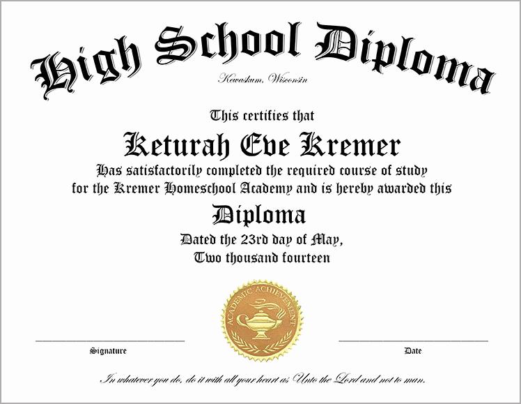 Printable High School Diploma Inspirational 30 Free High School Diploma Template Printable