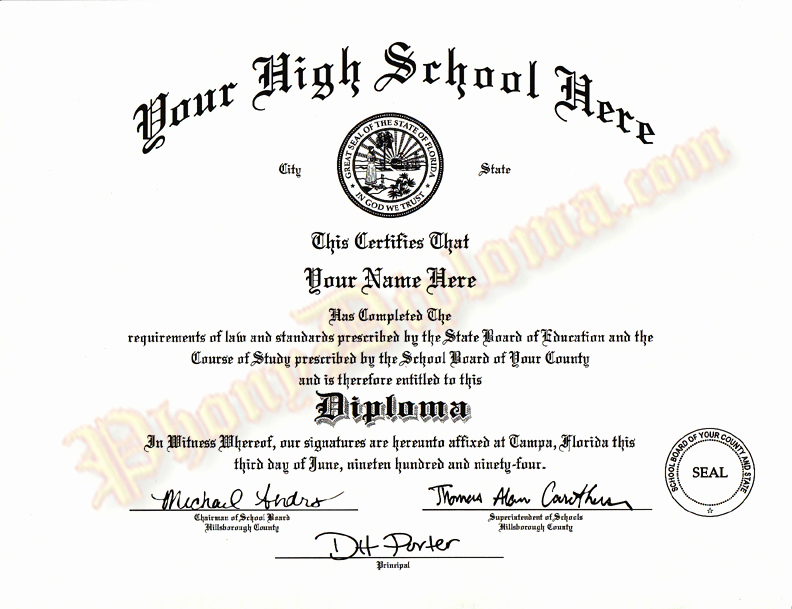 Printable High School Diploma Lovely Fake High School Diploma and Transcripts Midwest Design