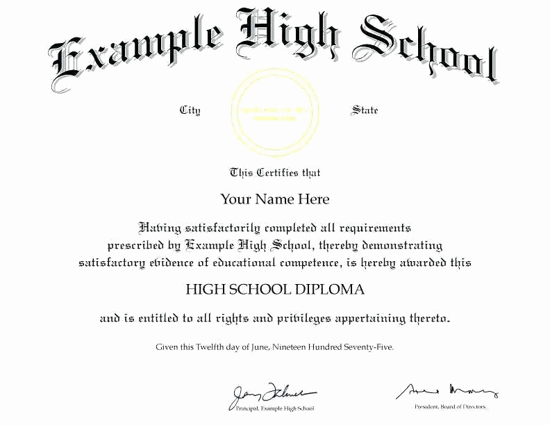 Printable High School Diploma Unique Blank High School Diploma – Sevnet