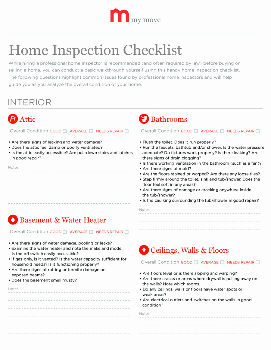 Printable Home Inspection Checklist Awesome Home Inspection Checklist Printable Home Inspection