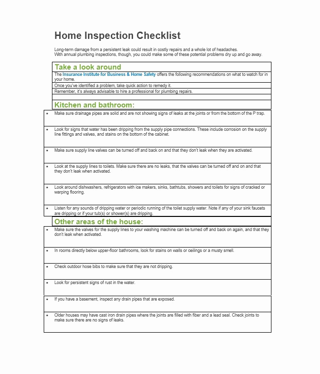 Printable Home Inspection Checklist Best Of 20 Printable Home Inspection Checklists Word Pdf