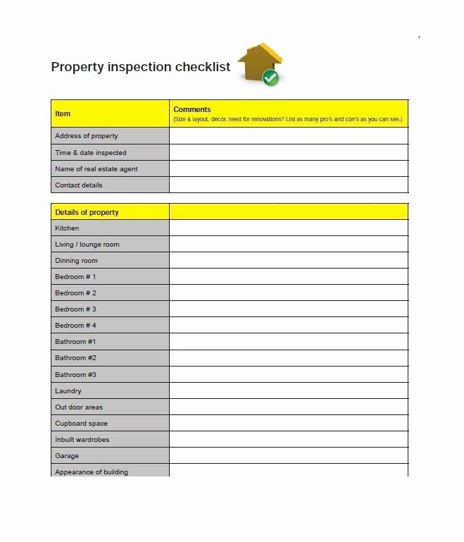 Printable Home Inspection Checklist Elegant 20 Printable Home Inspection Checklists Word Pdf