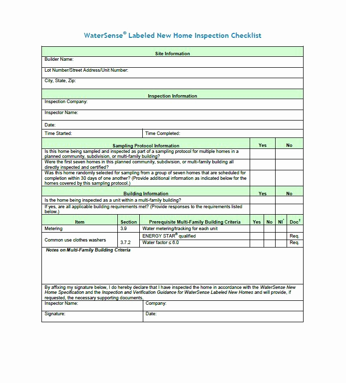 Printable Home Inspection Checklist New 20 Printable Home Inspection Checklists Word Pdf