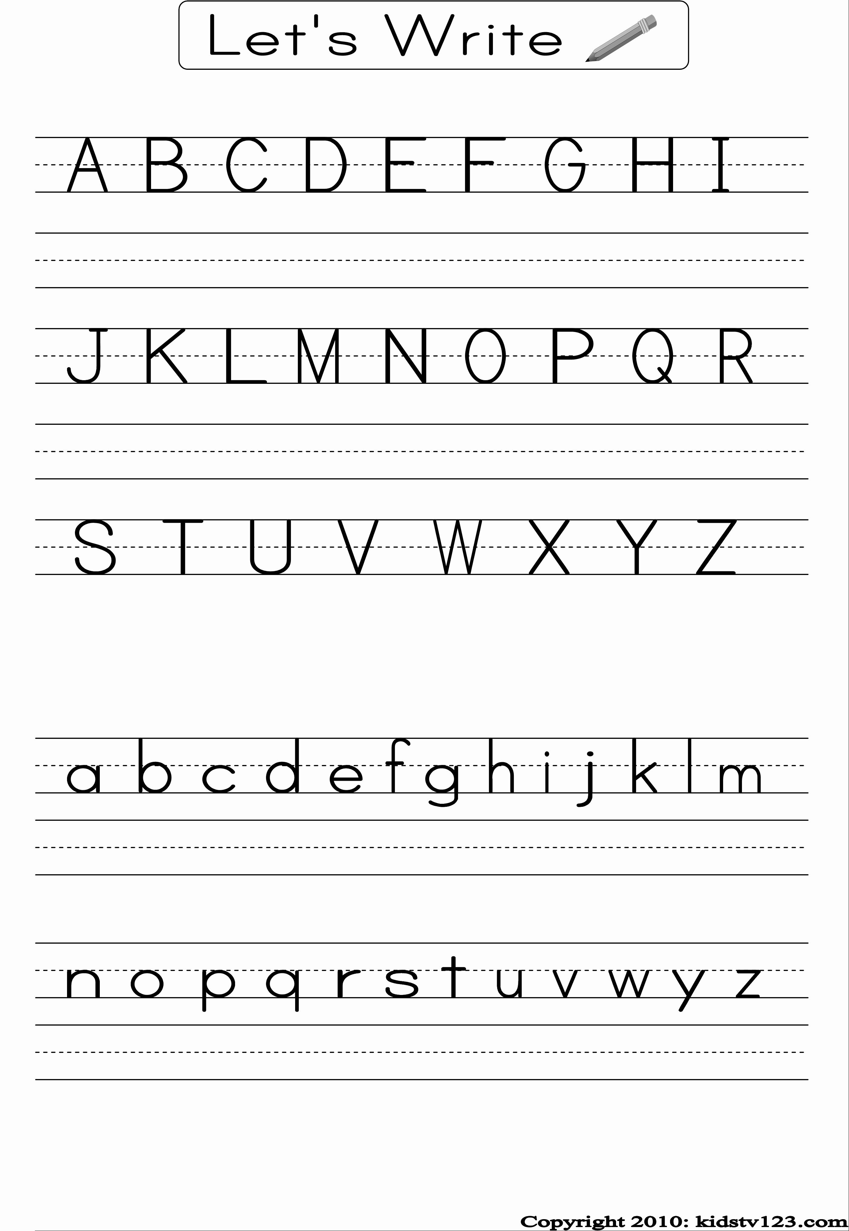 Printable Kindergarten Writing Paper Elegant Free Printable Alphabet Worksheets Preschool Writing and