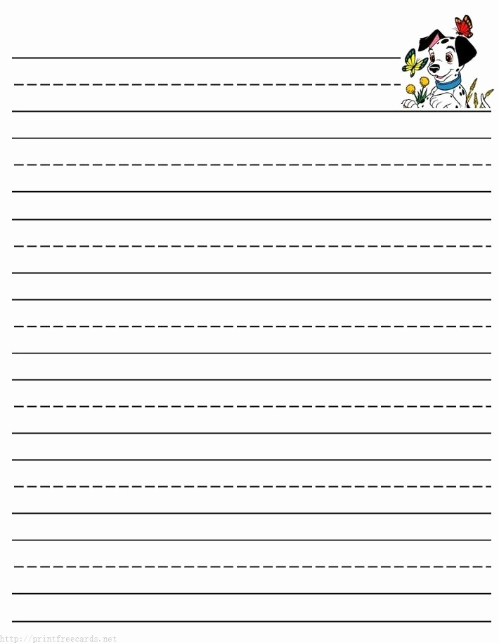 Printable Kindergarten Writing Paper Fresh Dotted Lined Paper for Kids 2018