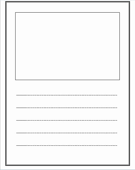Printable Kindergarten Writing Paper Luxury Free Lined Paper with Space for Story Illustrations