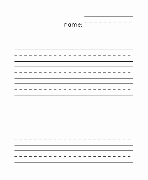 Printable Kindergarten Writing Paper New 8 Sample Lined Papers