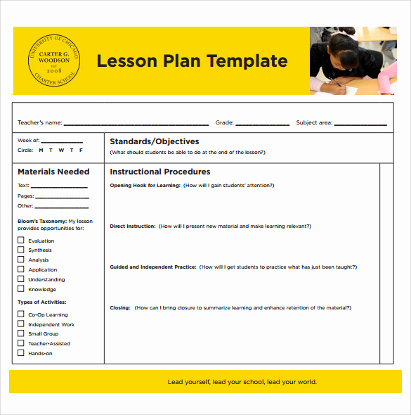 Printable Lesson Plan Template Best Of 14 Sample Printable Lesson Plans Pdf Word Apple Pages