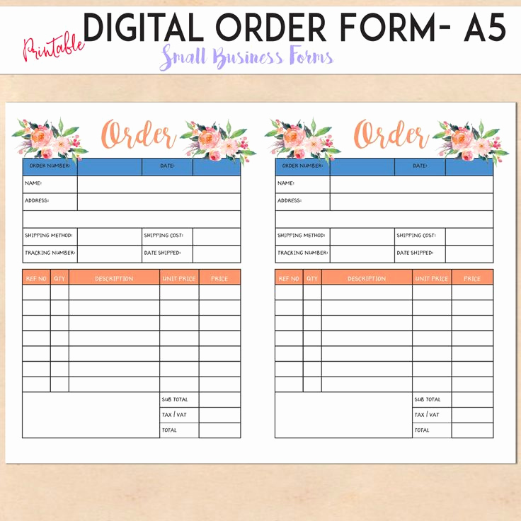 Printable order form Template Fresh 25 Best order form Ideas On Pinterest