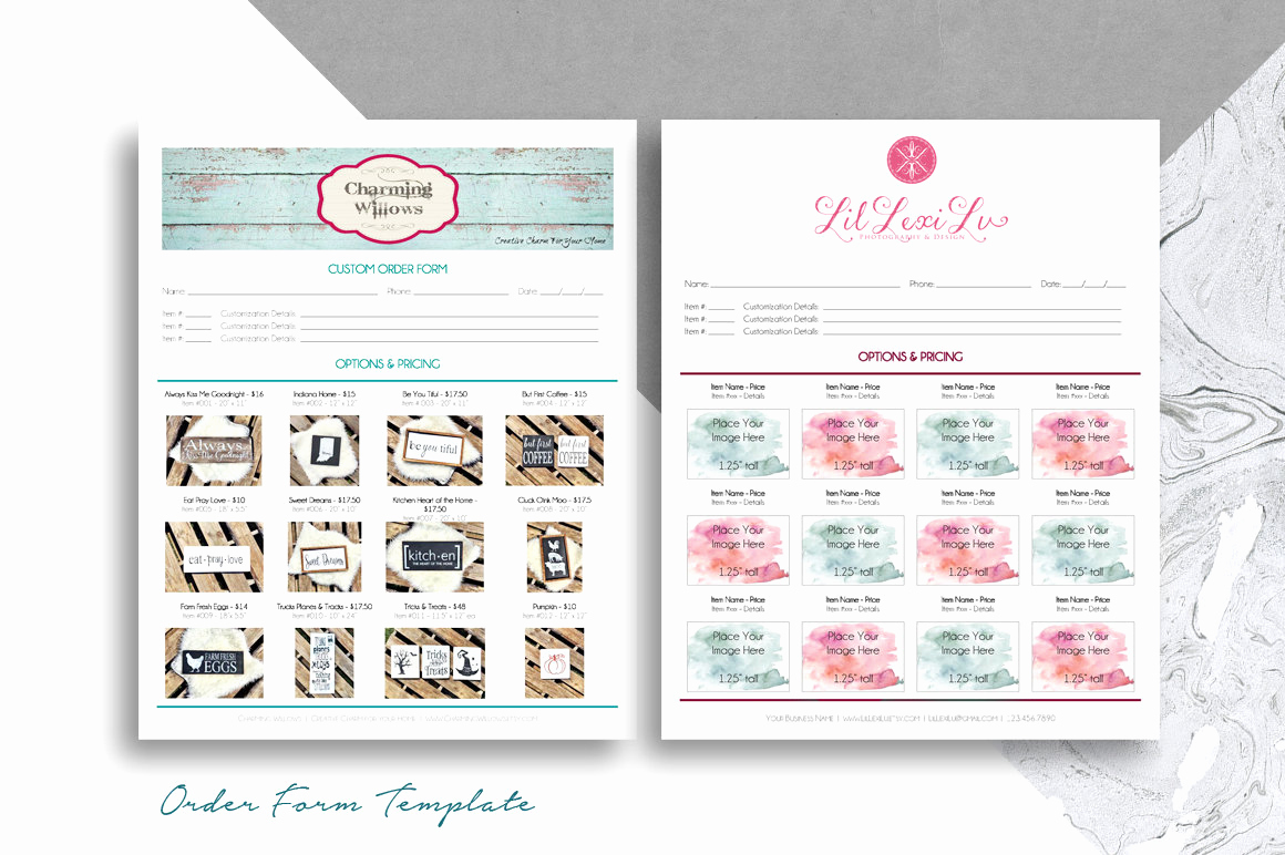 Printable order form Template Inspirational order form Template for Boutiques & Craft Shows Printable 8 5