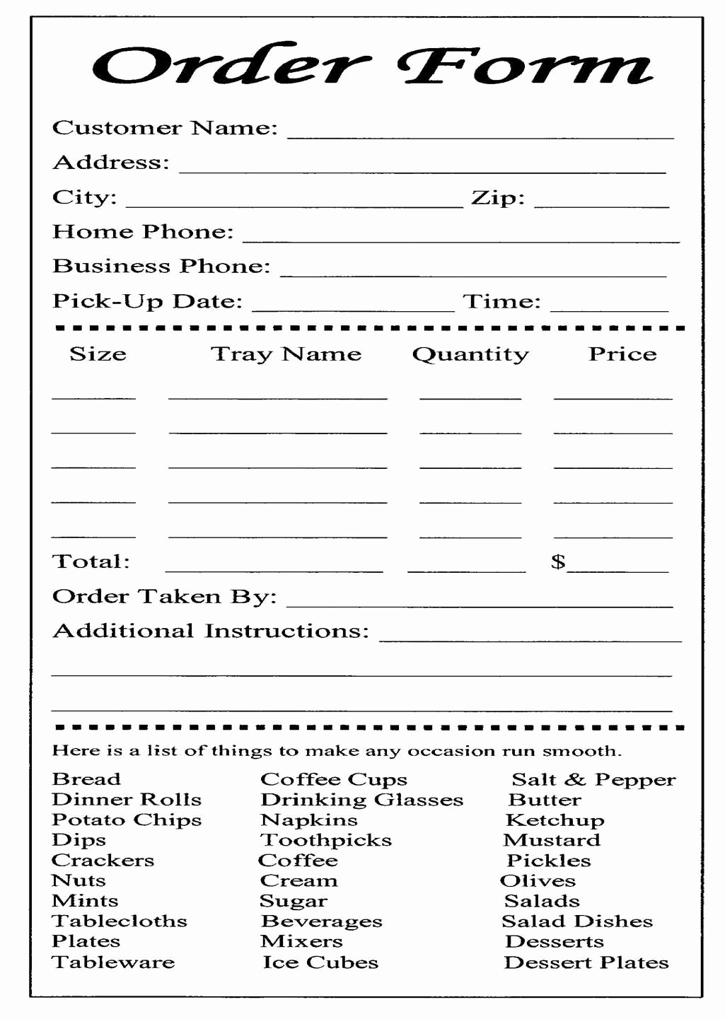 Printable order form Template Lovely Cake Ball order form Templates Free