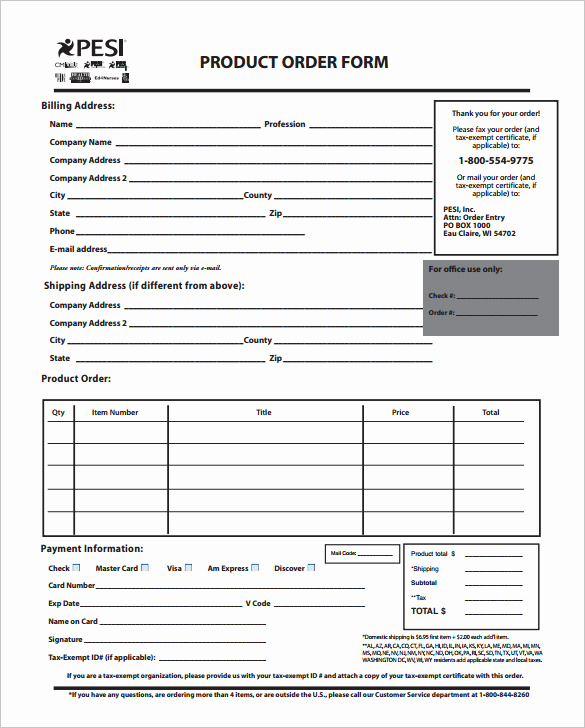 Printable order form Template Lovely order form Template – 27 Free Word Excel Pdf Documents