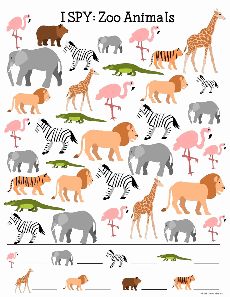 Printable Pictures Of Animals Elegant I Spy Printable Printable Pages