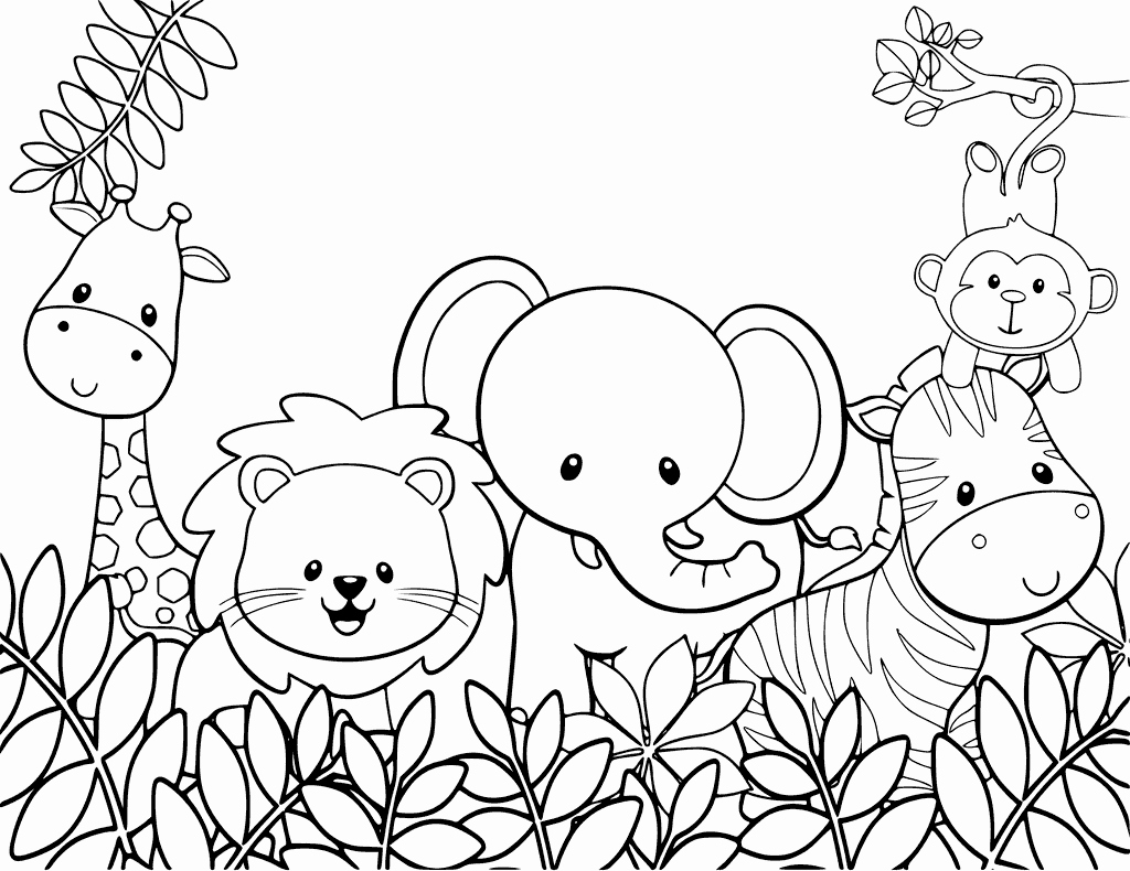 Printable Pictures Of Animals Lovely Cute Animal Coloring Pages Best Coloring Pages for Kids