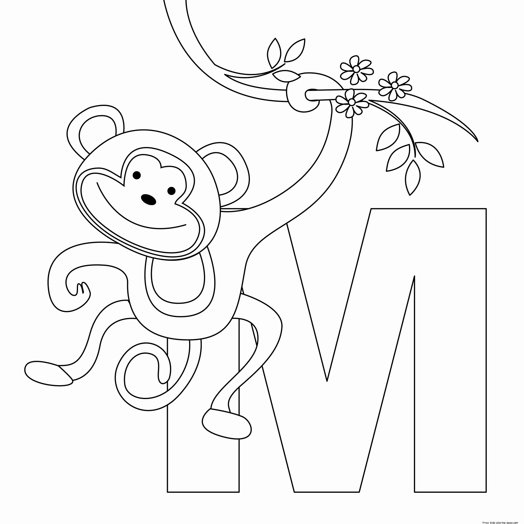Printable Pictures Of Animals Unique Printable Animal Alphabet Letters M Coloring Pagesfree