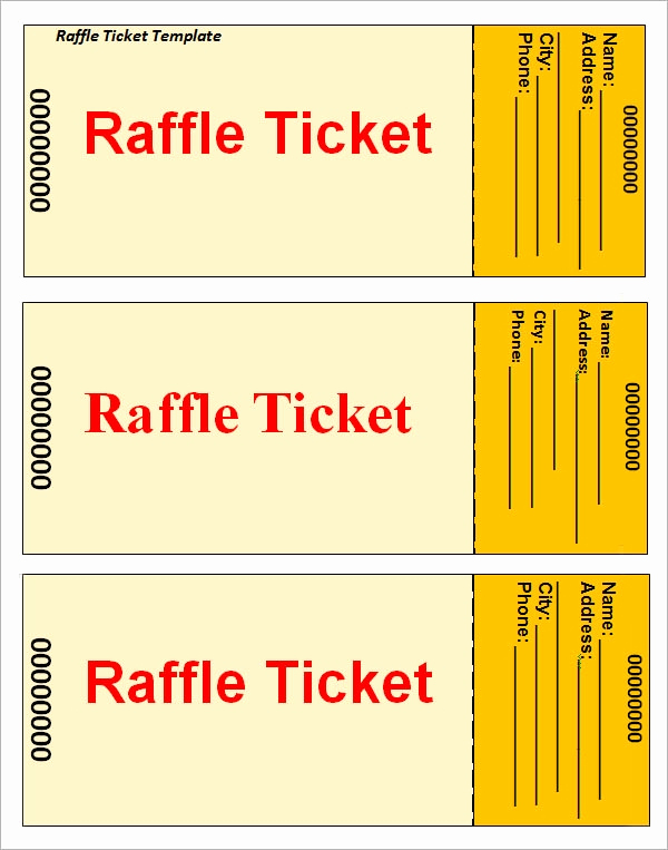 Printable Raffle Tickets Pdf Elegant 31 Raffle Ticket Templates Pdf Psd Word Indesign